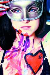 [フリー画像素材] 人物, 女性, 仮面・マスク, フェイス・ボディペインティング, アメリカ人 ID:201112301800