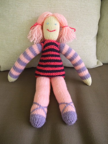 Dec. Project #5: Knitted Ballerina Doll Mama G & Co.