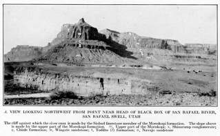 Plate 16A. View looking Northwest from point near head of Black Box of San Rafael River, San Rafael Swell, Utah | by egcd32