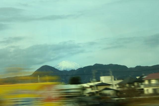 小田急線から見た富士山