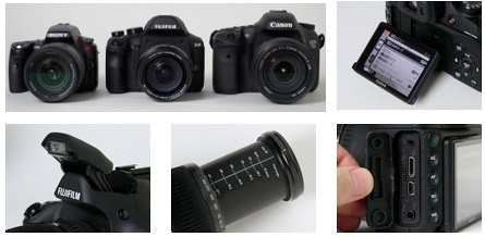 Canon 7D vs Fujifilm X-S1 vs Sony A55 -- Side-by-side photo at Impress