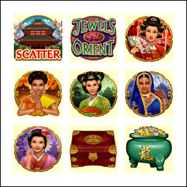 free Jewels of the Orient slot game symbols
