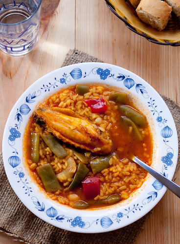 Arroz caldoso valenciano (Valencian rice soup)