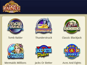 Spin Palace Mobile Casino Lobby