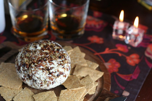 bourbon bacon cheeseball