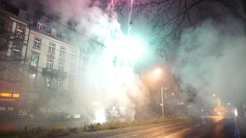 Silvester 2011 auf der Friedberger Landstrasse