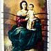 great xmas stamp Great Britain 4d Madonna & Jesus Child (painting by Bartolomé Esteban Murillo (1617-1682) spainish painter) pre decimal GB Great Britain  4p pence UK Virgin Mary Madonna Jesus Christ Holy Night postage christmas navidad sello noel timbre