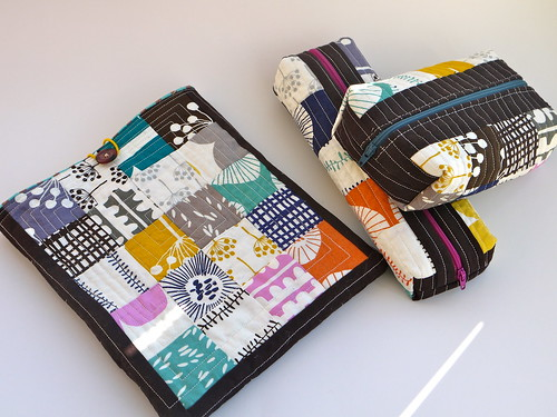 Echo patchwork pouches