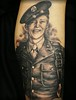 WW2 military portrait memorial tattoo by Jackie Rabbit