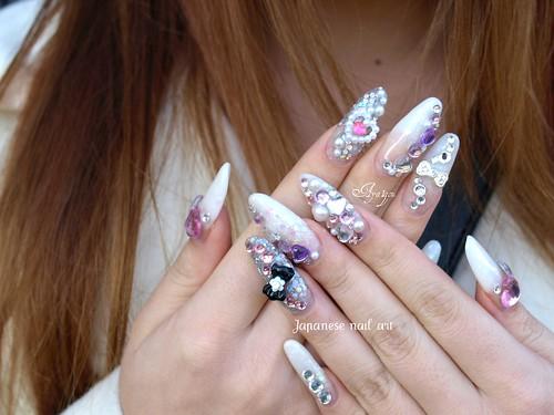 Kirakira nails for Coming-of-Age-Day