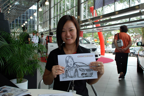 Caricature live sketching for Tan Chong Nissan Almera Soft Launch - Day 2 - 9