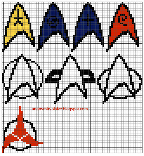 star trek insignia pattern
