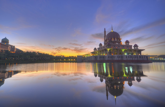 waiting for the sunrise at Putrajaya, Malaysia.