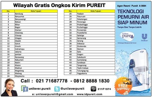 Unilever Pureit Gratis Ongkos Kirim