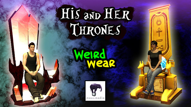 Weird Wear - His and Her Thrones