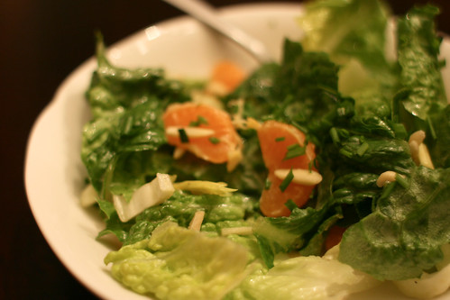 Romaine Salad with Almonds and Mandarins