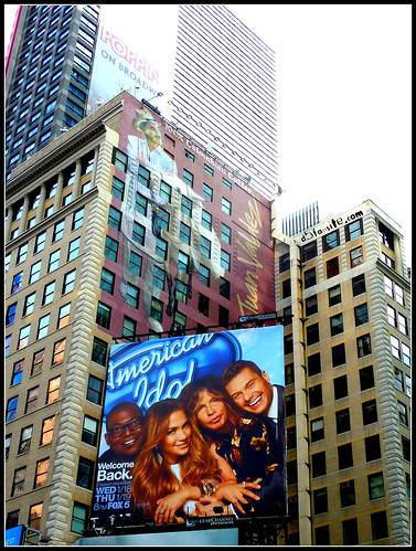American Idol Billboard on Broadway, Times Square, NYC