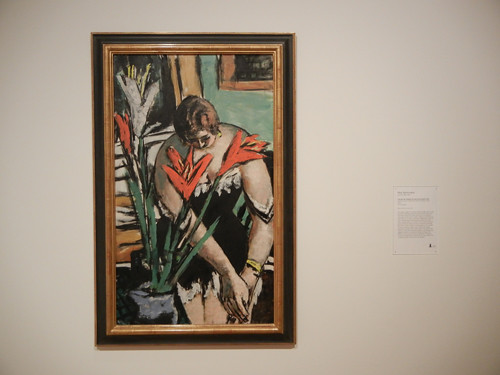 Frau bei der Toilette mit roten und weissen Lilien (Woman at Her Toilette with Red and White Lilies), Max Beckmann, 1938, Oil on Canvas, SFMOMA _ 9631