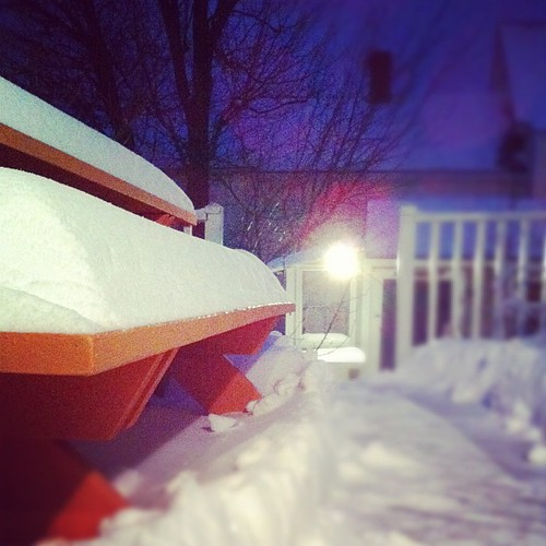 an evening for shoveling