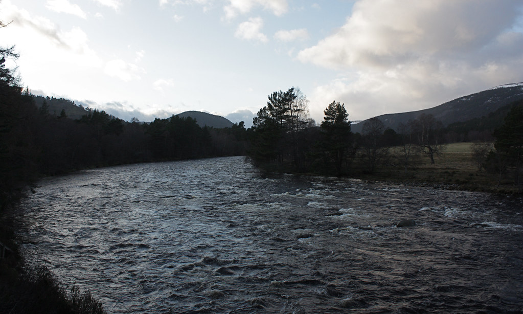 Churning waters of the Dee