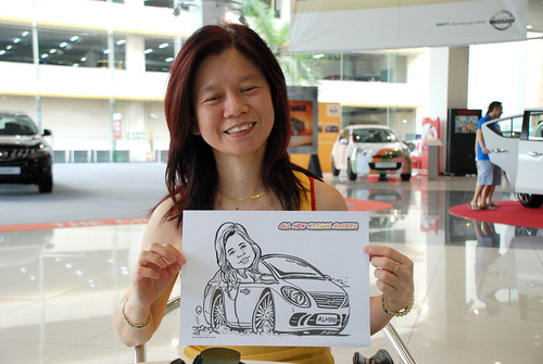 Caricature live sketching for Tan Chong Nissan Motor Almera Soft Launch - Day 4 - 1
