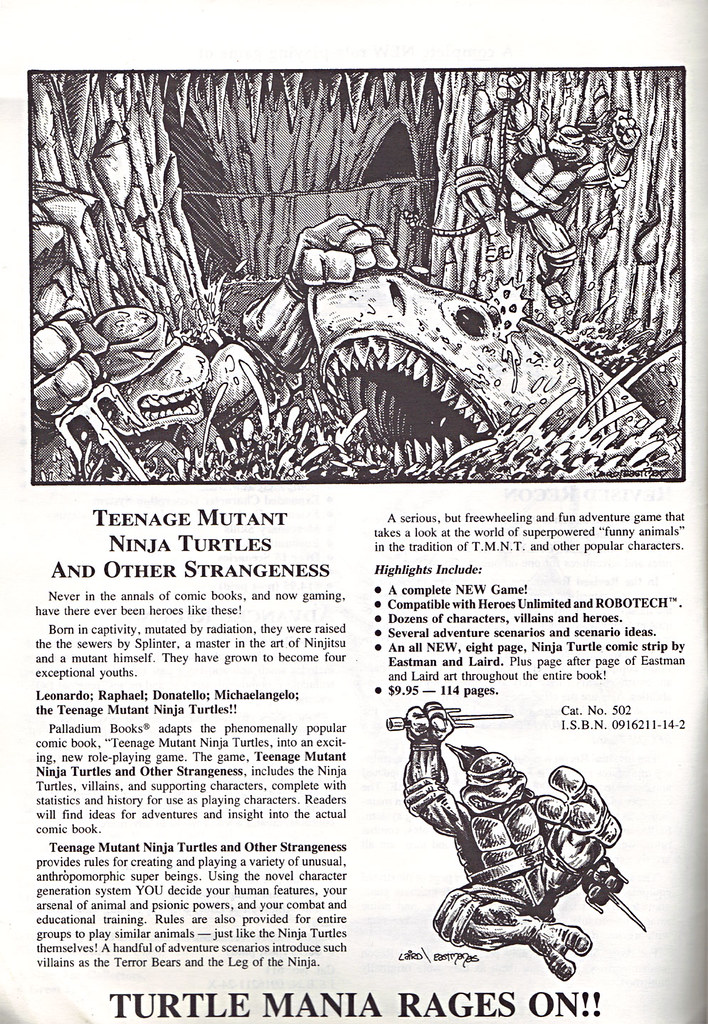 'THE CATALOG OF PALLADIUM BOOKS 1988-89 Catalog' vi (( 1988 )) by tOkKa