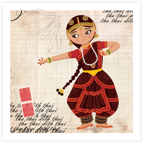 Maithili dances the Bharatanatyam.