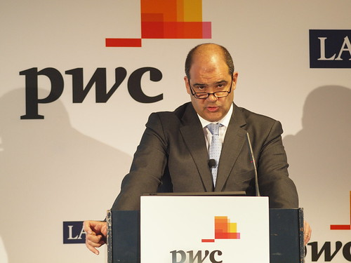 Carles Sumarroca, guest at a work lunch organized by PwC and La Vanguardia