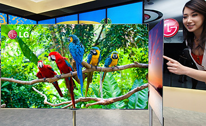 LG's 55-inch OLED TV will hit Singapore towards the end of 2012.