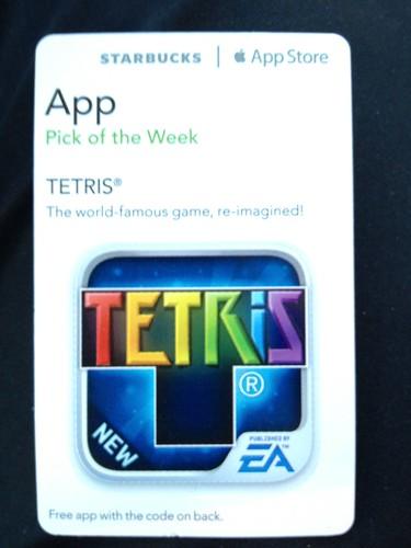 Starbucks iTunes Pick of the Week - Tetris [app]