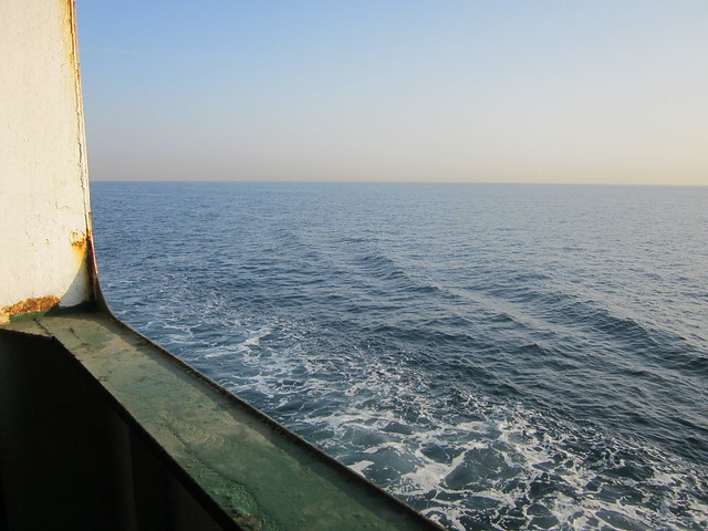 on the ferry from Bandar Abbas to Sharjah
