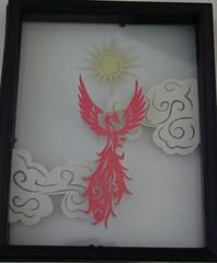 3D Phoenix Paper Cut