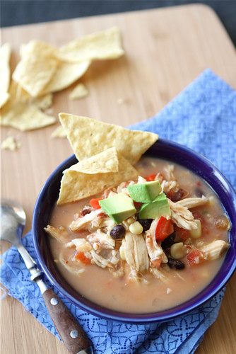 This crockpot chicken tortilla soup is a breeze to put together and is a healthy and popular option for the whole family. #crockpot #slowcooker #souprecipes
