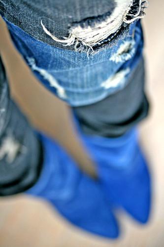 blue fashion details