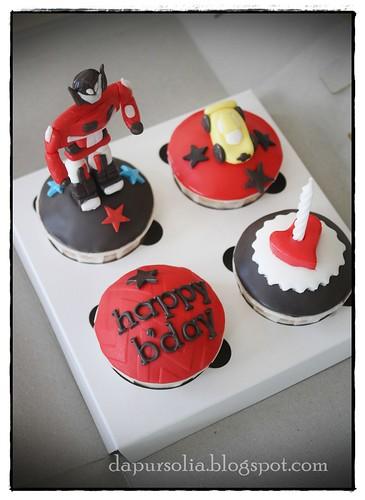 Robot Cupcake Set