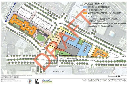 Draft plan for downtown Wheaton, Winter 2011