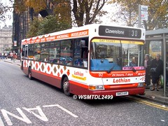 92 SN53 AVF Dennis Super Pointer Dart Plaxton Pointer II. Princes Street EDINBURGH