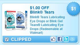 Blink Tears Drops Gel Tears  Coupon