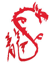 It's the dragon year, so here's the Chinese character for dragon, with embellishments.