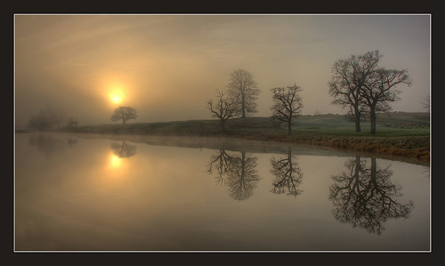 ireland water fog sunrise reflections river maynooth kildare ryeriver