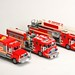 Group Shot of My Lego Fire Trucks