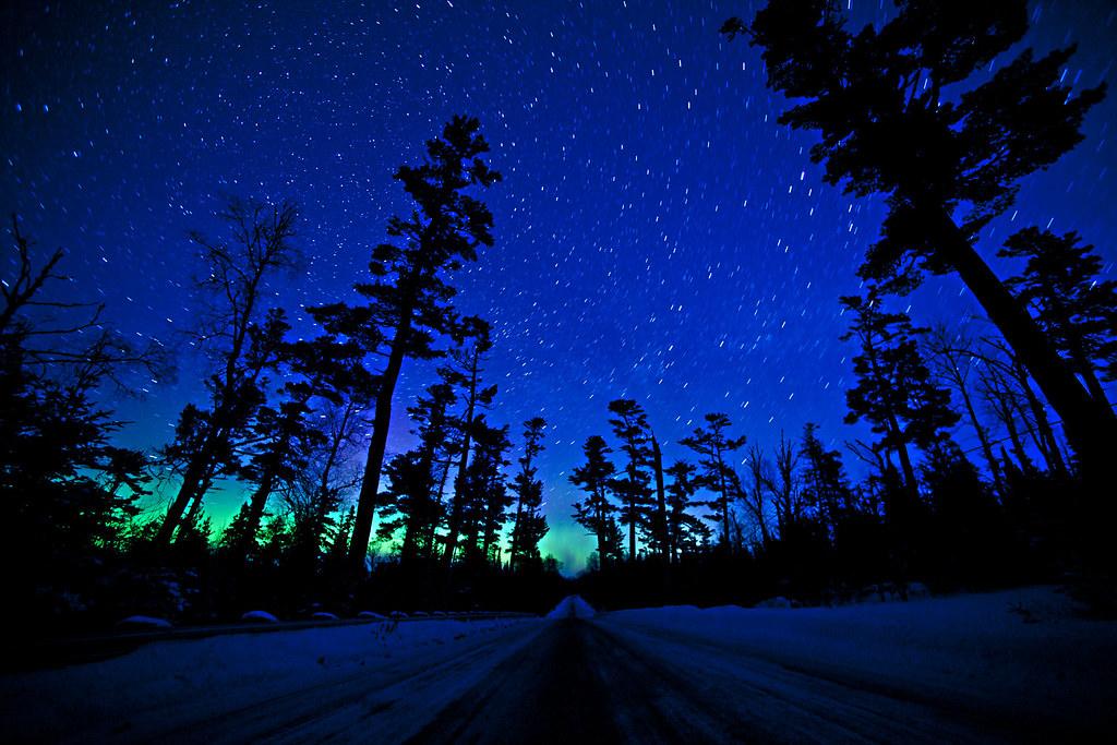 norther lights on gunflint trail, grand marais, minnesota