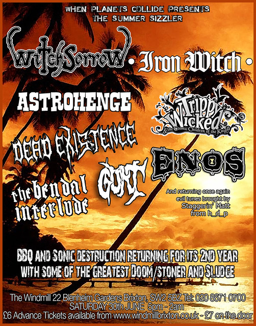 Witchsorrow summer sizzler alldayer metal gigs metalgigs gig listings