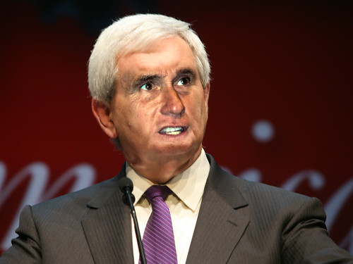 Newt Gingrich with Mitt Romney's Face