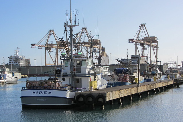 Fishing vessels at pier 38 with matson container ship flickr photo sharing - Matson container homes ...