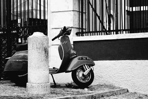 life is too short not to ride a vespa [B&W] by destino2003