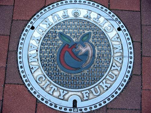 Fukuyama Hiroshima manhole cover (広島県福山市のマンホール)