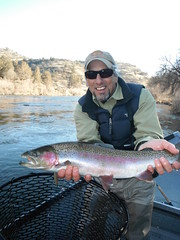 Ed with his Shasta Trout Hawg of Fame, Klamath River Steelhead