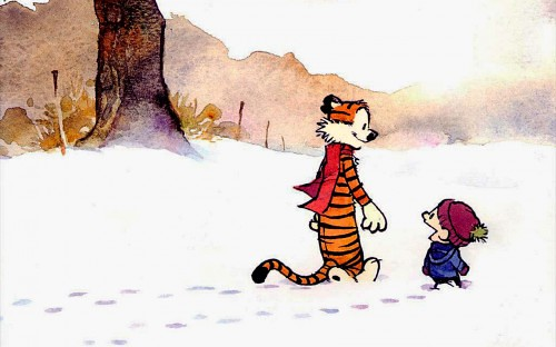 calvin and hobbes - snow-walkers