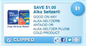 Alka-seltzer Antacid Or Alka-seltzer Plus Cold Product Coupon